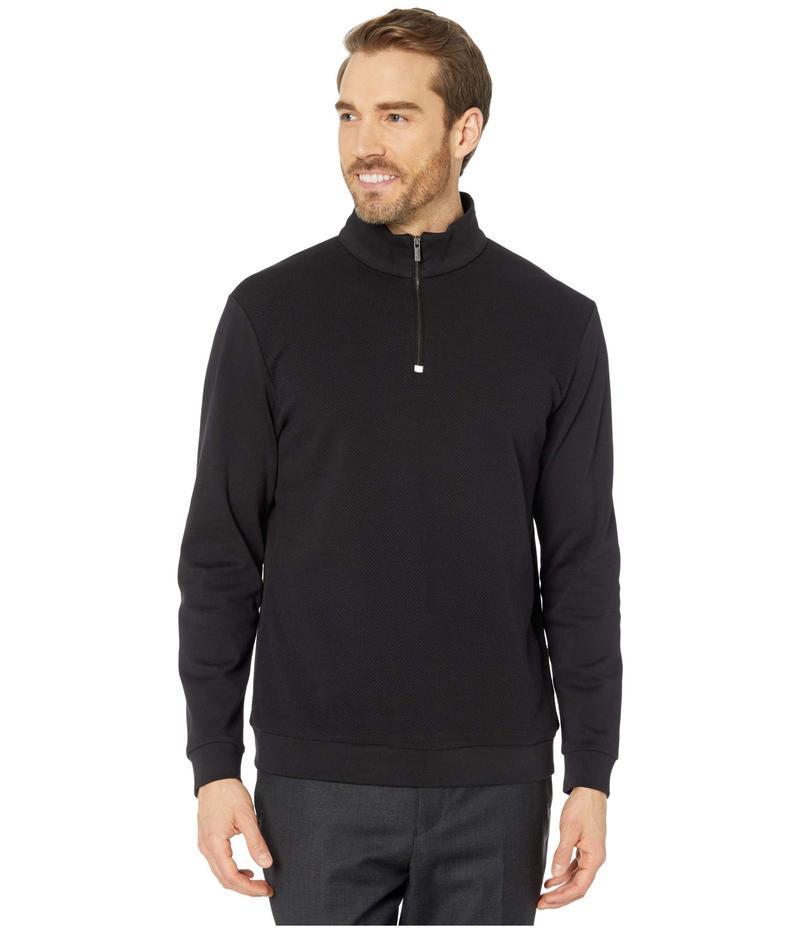 ブガッチ メンズ シャツ トップス Arnulfo Long Sleeve Knit 1/2 Zip Mock Neck Black