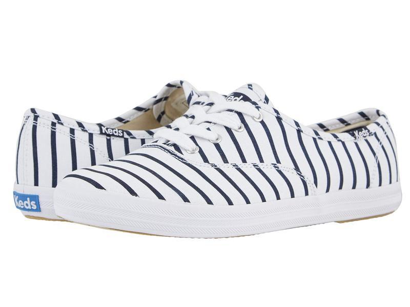 ケッズ レディース スニーカー シューズ Champion Breton Stripe White/Navy