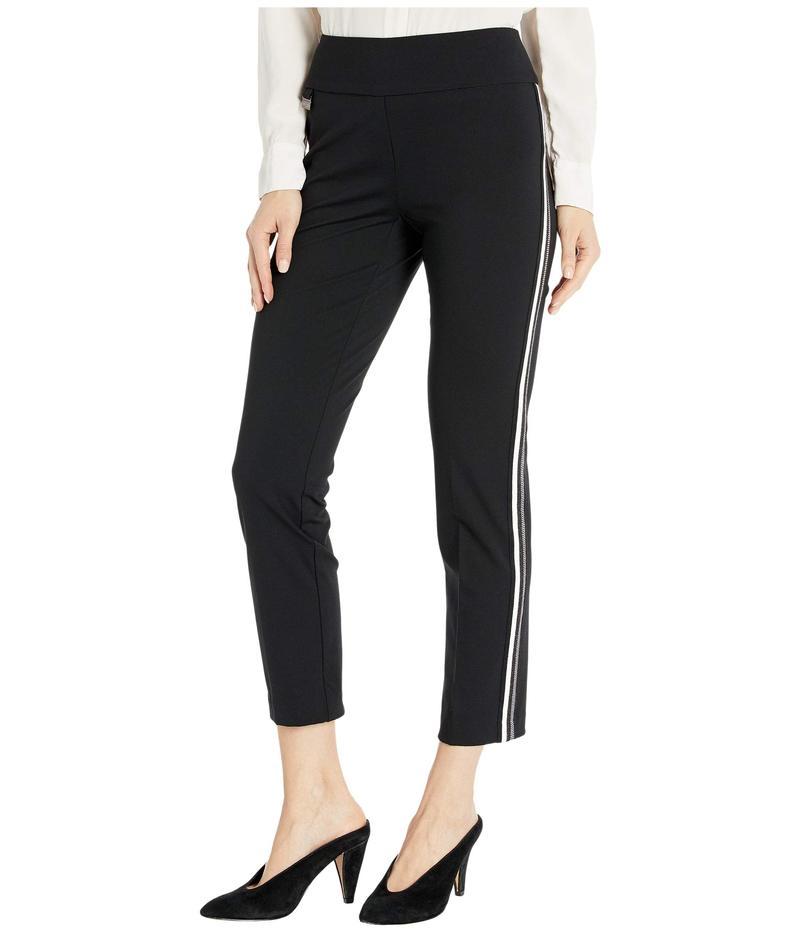 リゼッタ レディース カジュアルパンツ ボトムス Kathryne Fabric Pull-On Ankle Pants with Side Stripes Black