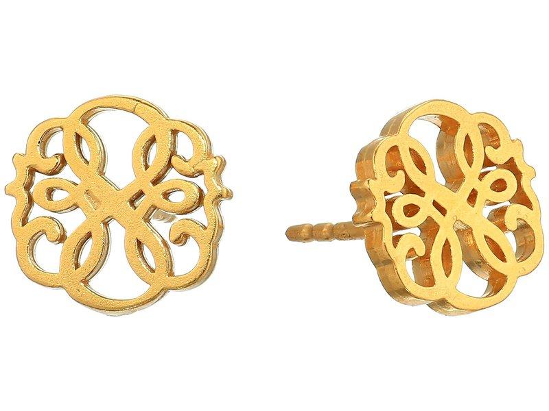 アレックスアンドアニ レディース ピアス・イヤリング アクセサリー Post Earrings - Path of Life 14KT Gold Plate