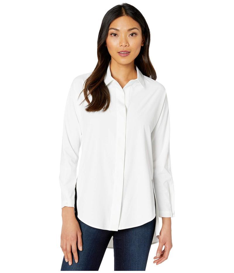 ニックプラスゾーイ レディース シャツ トップス Tech Stretch Shirt Paper White