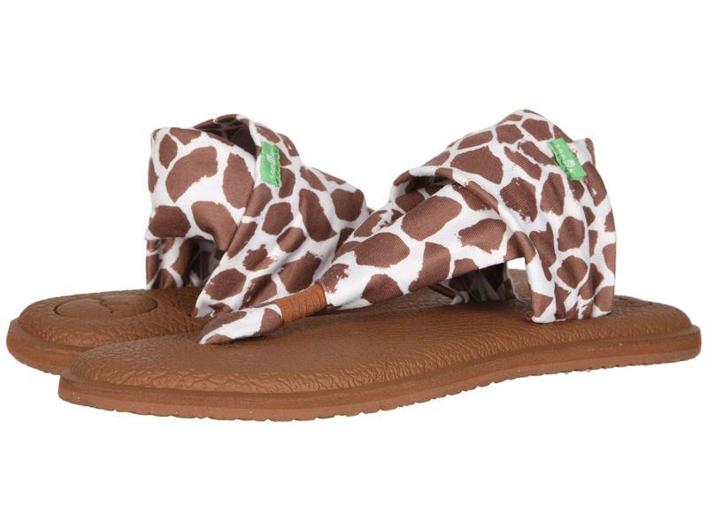 サヌーク レディース サンダル シューズ Yoga Sling 2 Prints Giraffe