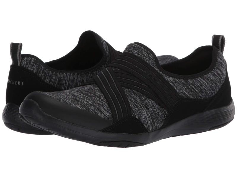 スケッチャーズ レディース スニーカー シューズ Lolow - Too Quickly Black Charcoal