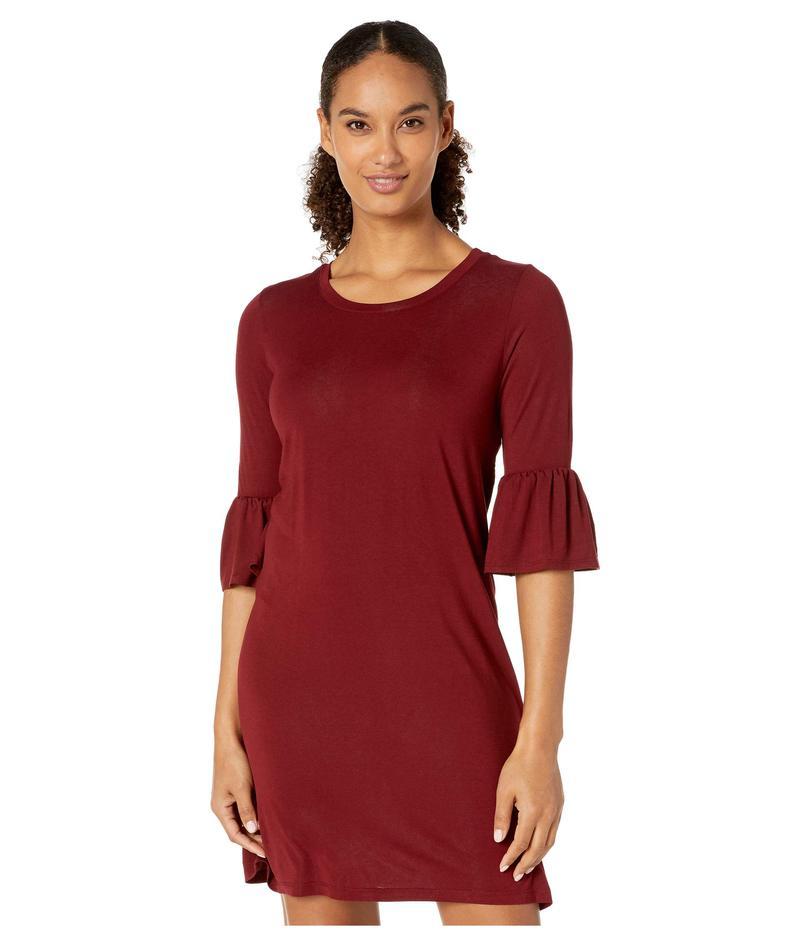 ステトソン レディース ワンピース トップス 3922 Rayon Spandex Knit T-Shirt Dress Wine