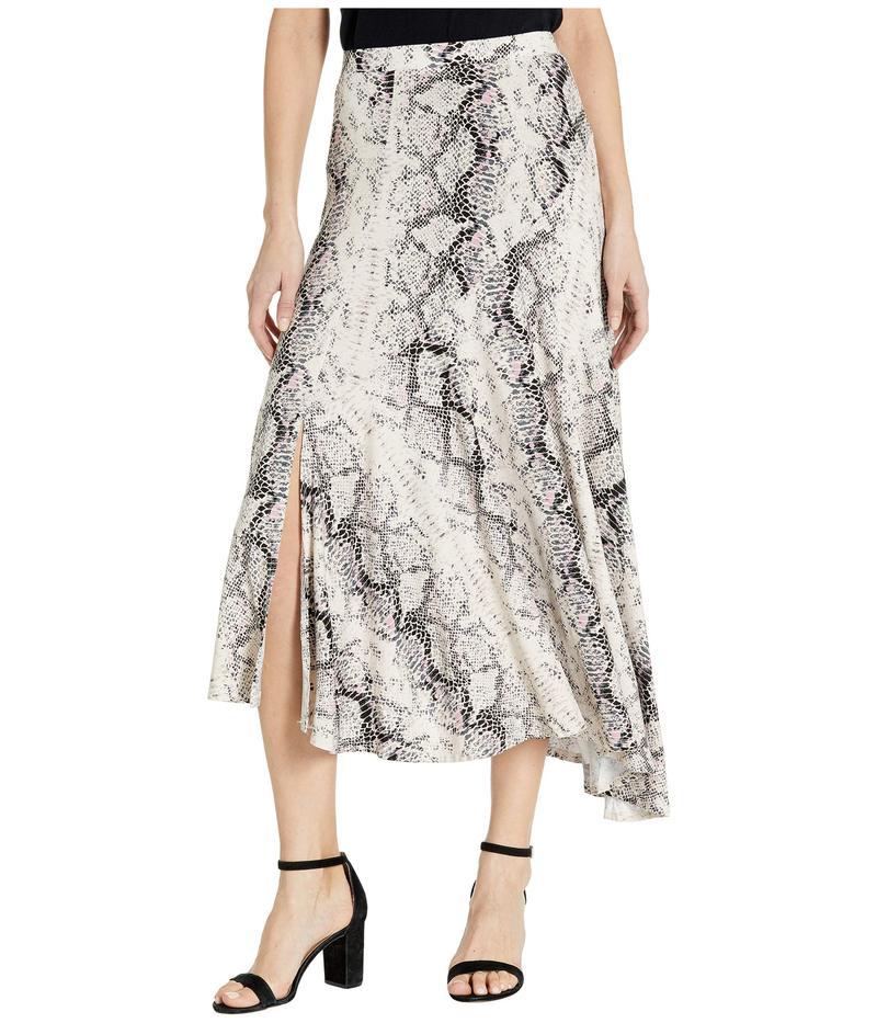 トリバル レディース スカート ボトムス Asymmetrical Skirt w/ Ruffle Stone