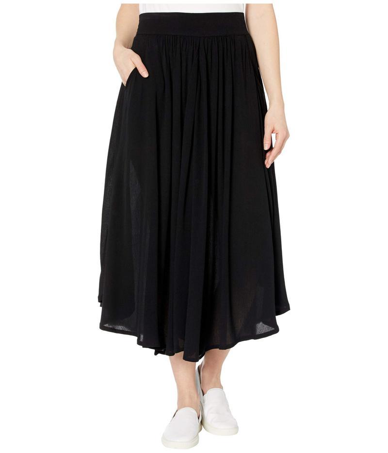 トリバル レディース スカート ボトムス Long Circular Skirt with Pockets Black