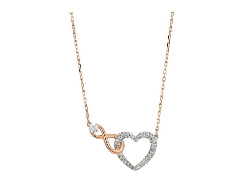 スワロフスキー レディース ネックレス・チョーカー・ペンダントトップ アクセサリー Infinity Heart Necklace White