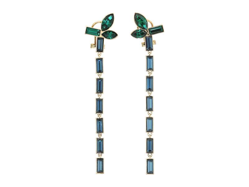 送料無料 サイズ交換無料 スワロフスキー レディース アクセサリー ピアス・イヤリング Erinite/Emerald スワロフスキー レディース ピアス・イヤリング アクセサリー Bamboo Pierced Earrings Drop Erinite/Emerald