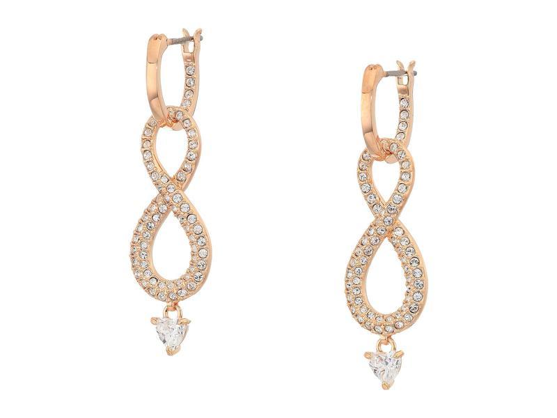 スワロフスキー レディース ピアス・イヤリング アクセサリー Infinity Pierced Earrings White 1