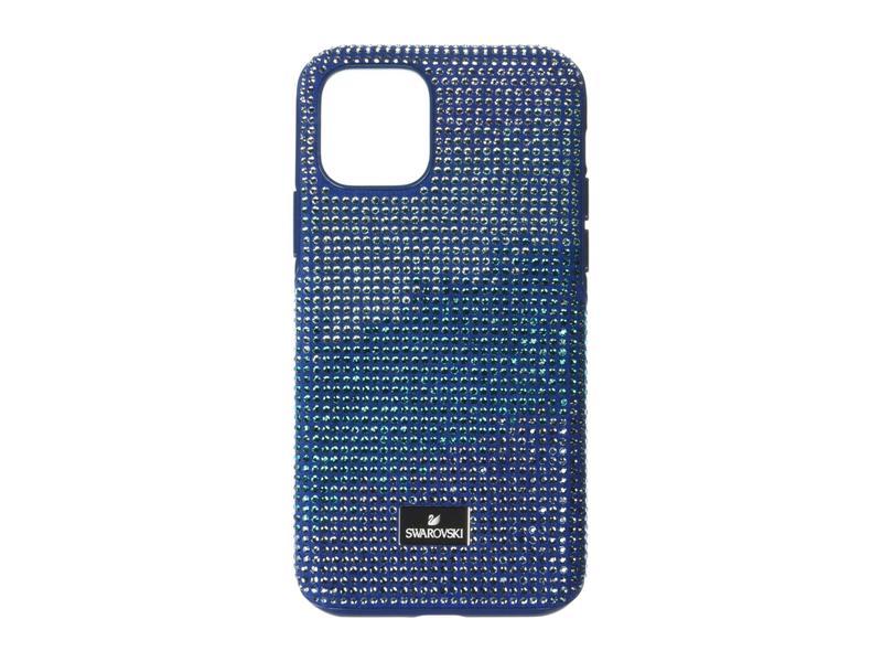 スワロフスキー レディース PC・モバイルギアケース アクセサリー Crystalgram Smartphone Case with Bumper, iPhone 11 Pro Blue