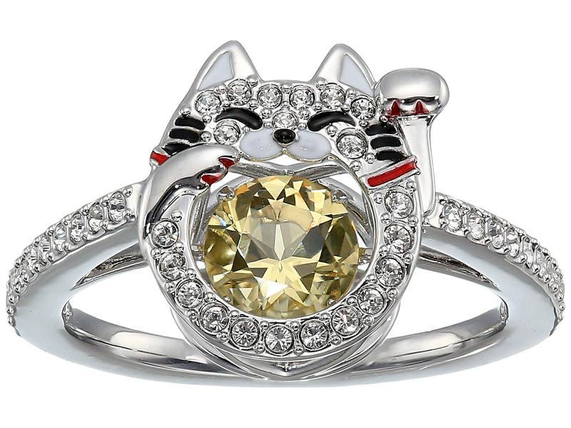 スワロフスキー レディース リング アクセサリー Sparkling Dance Cat Ring Ceramic Canary