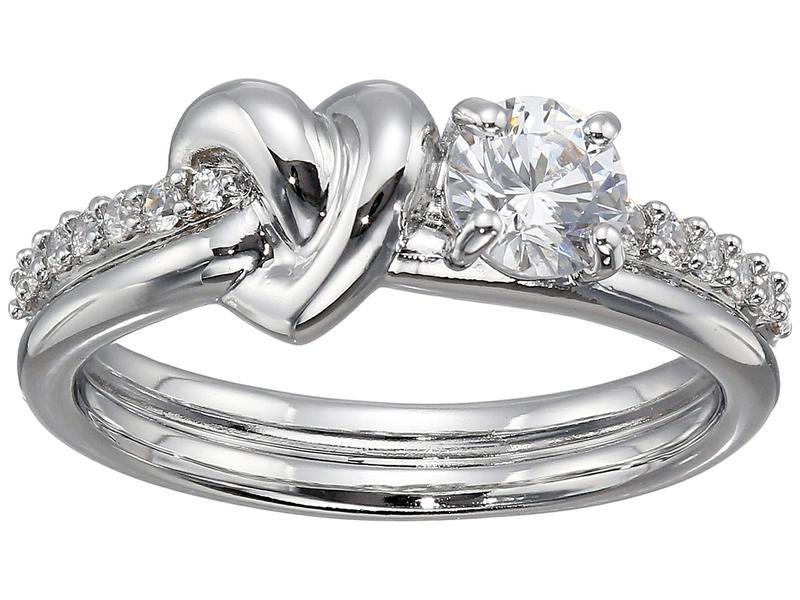 スワロフスキー レディース リング アクセサリー Lifelong Heart Ring CZ White