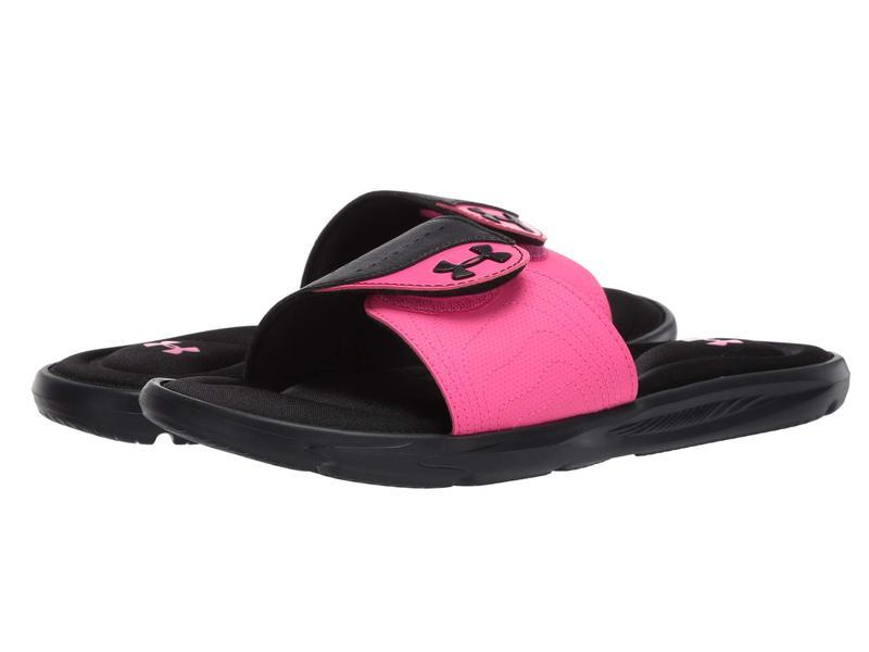 シューズ Surg レディース アンダーアーマー SL サンダル Black/Pink Ignite IX UA