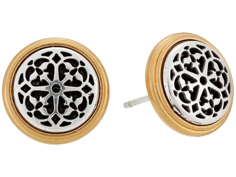 ブライトン レディース ピアス・イヤリング アクセサリー Ferrara Two-Tone Post Earrings Silver/Gold