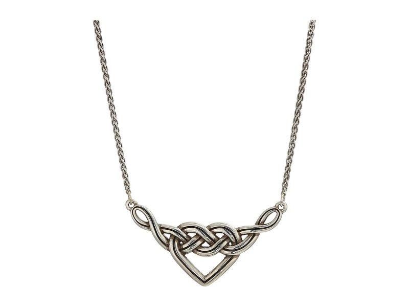 ブライトン レディース ネックレス・チョーカー・ペンダントトップ アクセサリー Interlok V Heart Necklace Silver