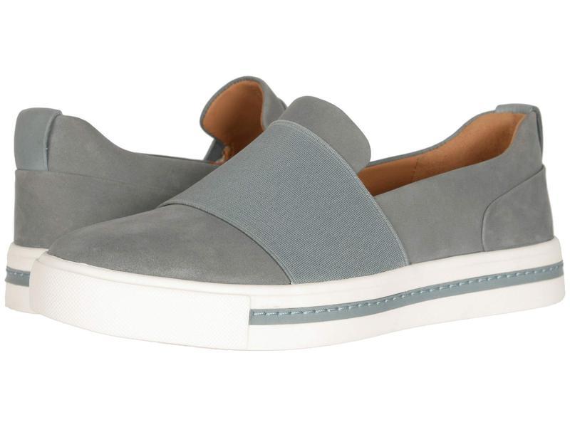 クラークス レディース スニーカー シューズ Un Maui Step Blue/Grey Nubuc