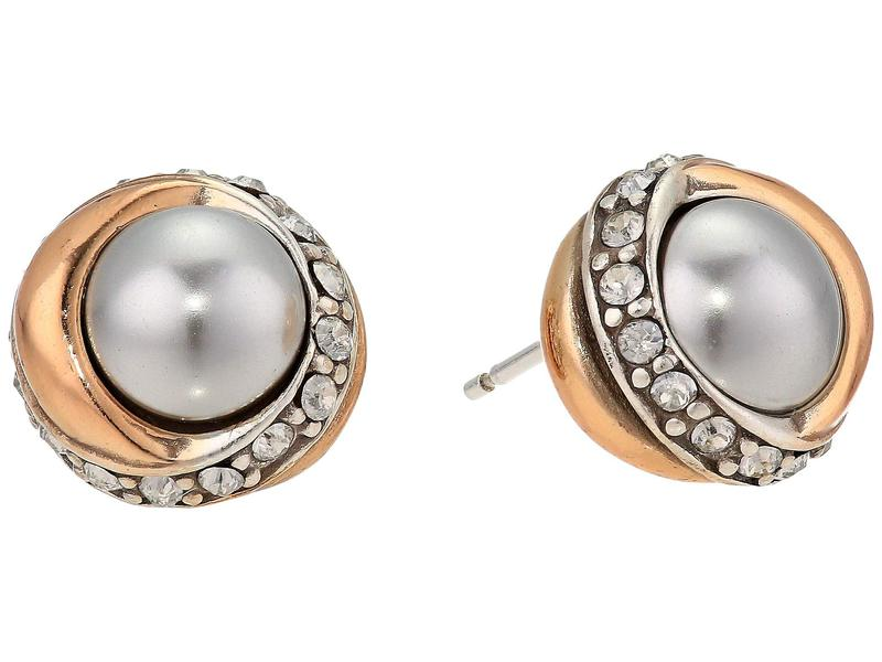 ブライトン レディース ピアス・イヤリング アクセサリー Neptune's Rings Button Earrings Gray