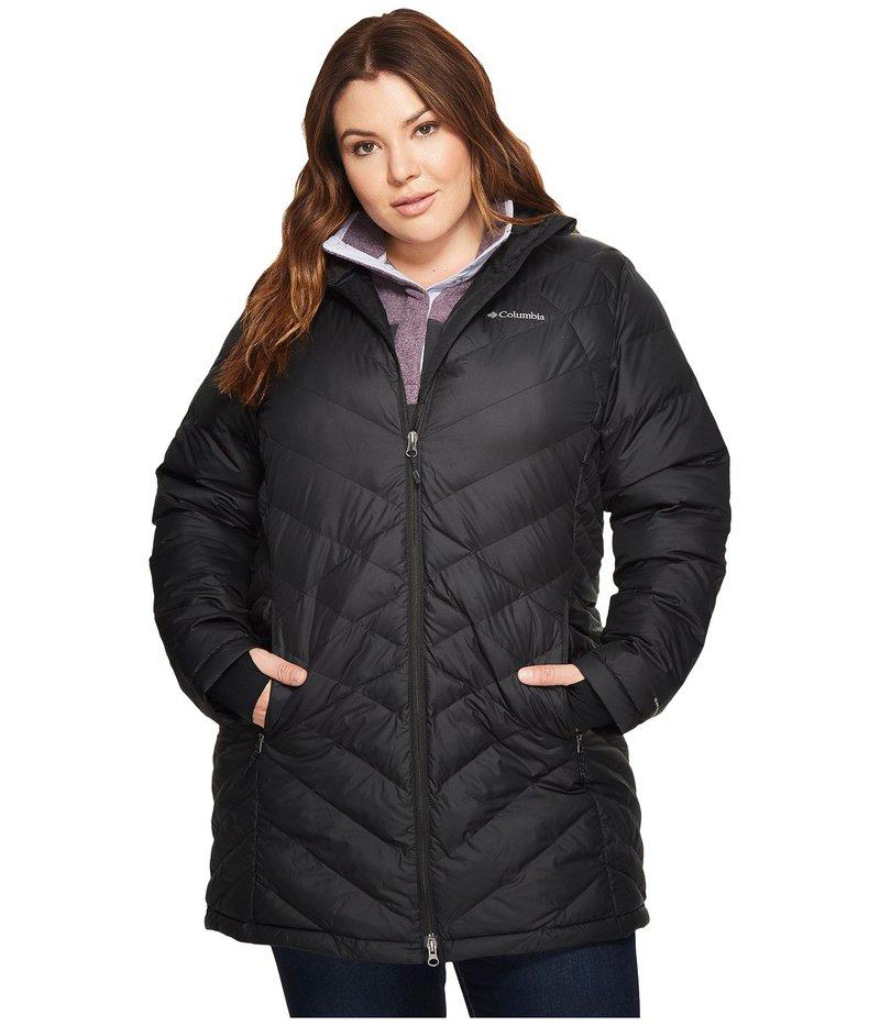コロンビア レディース コート アウター Plus Size Heavenly Long Hooded Jacket Black