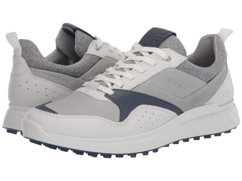 エコー メンズ スニーカー シューズ Golf S-Casual Hydromax White/True Navy