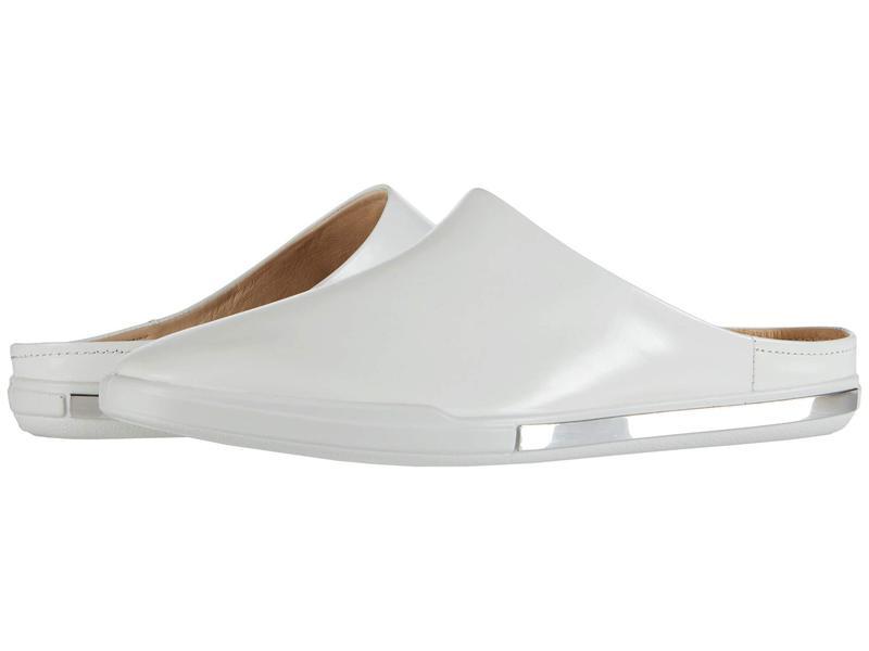 エコー レディース スリッポン・ローファー シューズ Simpil II Slide White Calf Leat