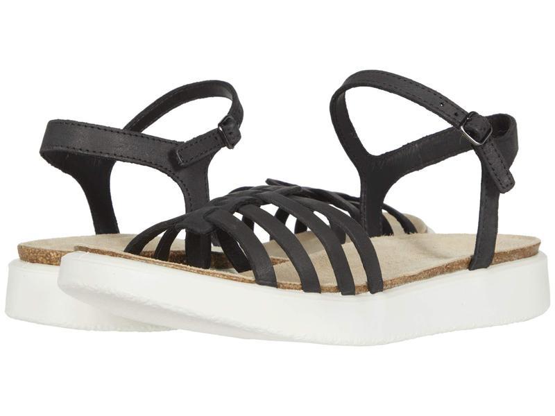 エコー レディース サンダル シューズ Corksphere Ankle Strap Sandal Black Cow Nubuc