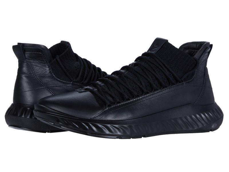 エコー メンズ スニーカー シューズ ST.1 Lite Mid Cut Sneaker Black/Black/Bla