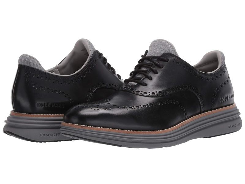 コールハーン メンズ オックスフォード シューズ Original Grand Ultra Wing Ox Black Leather/Q