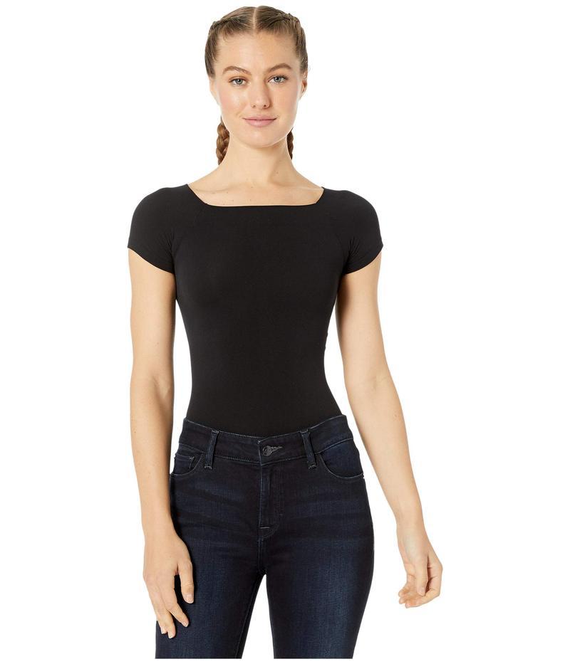 コマンドー レディース シャツ トップス Ballet Cap Sleeve Bodysuit KT039 Black
