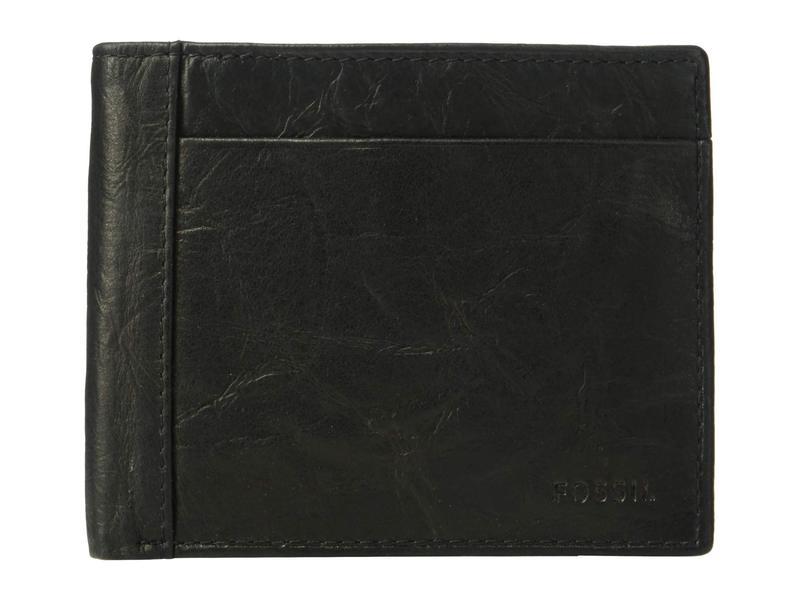 フォッシル メンズ 財布 アクセサリー Neel Large Coin Pocket Bifold Black