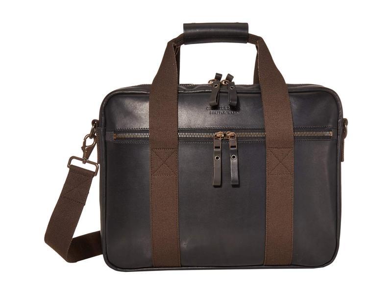 フィルソン メンズ ビジネス系 バッグ Dawson Leather Briefcase Black