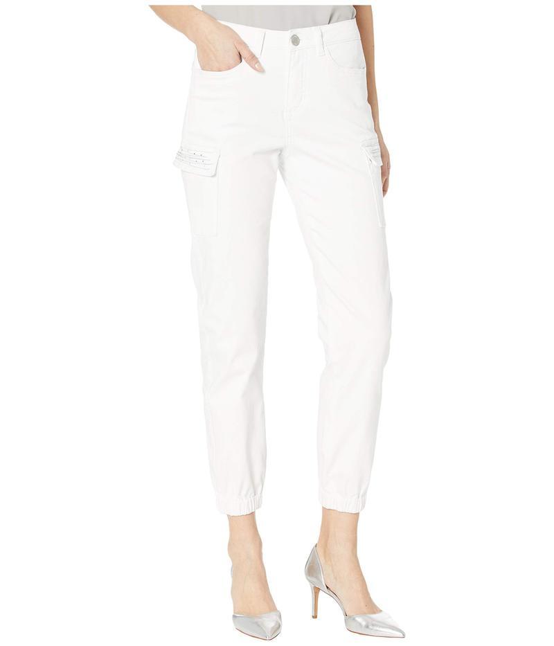 FDJフレンチドレッシングジーンズ レディース デニムパンツ ボトムス Euro Twill Olivia Ankle Cargo Embellished Pockets in White White