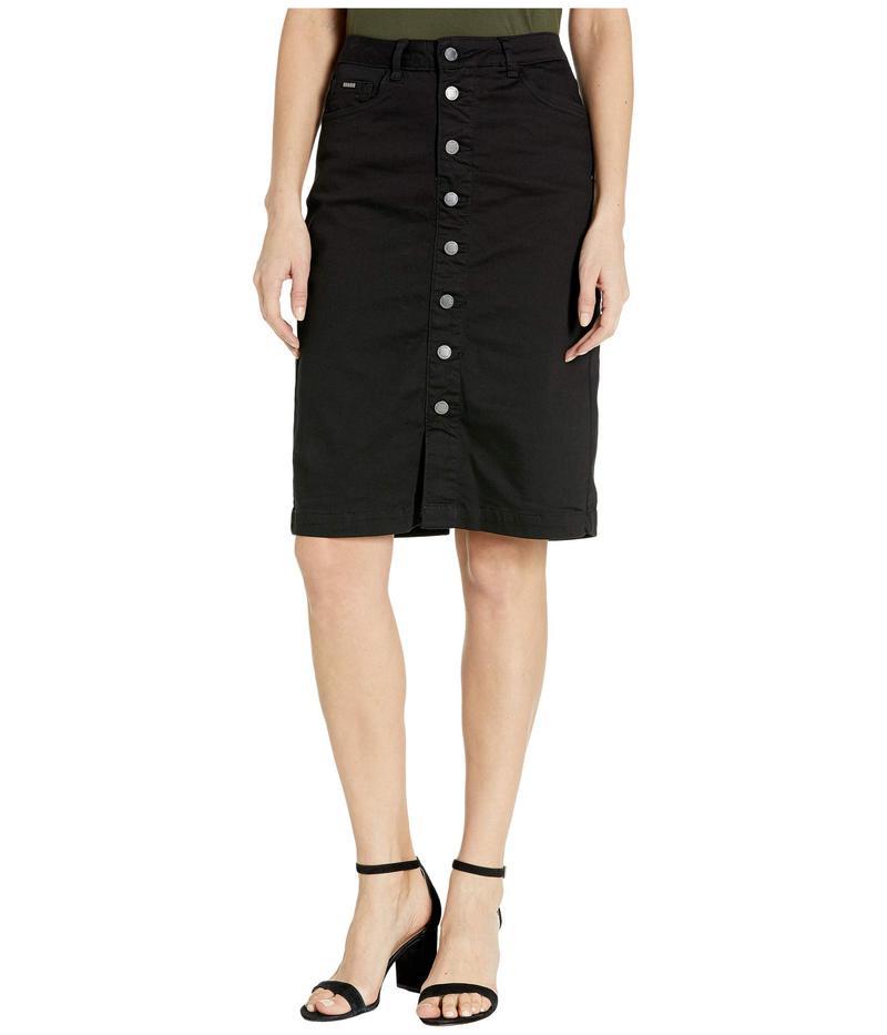 FDJフレンチドレッシングジーンズ レディース スカート ボトムス Sunset Hues Denim Skirt Button Front Detail in Black Black