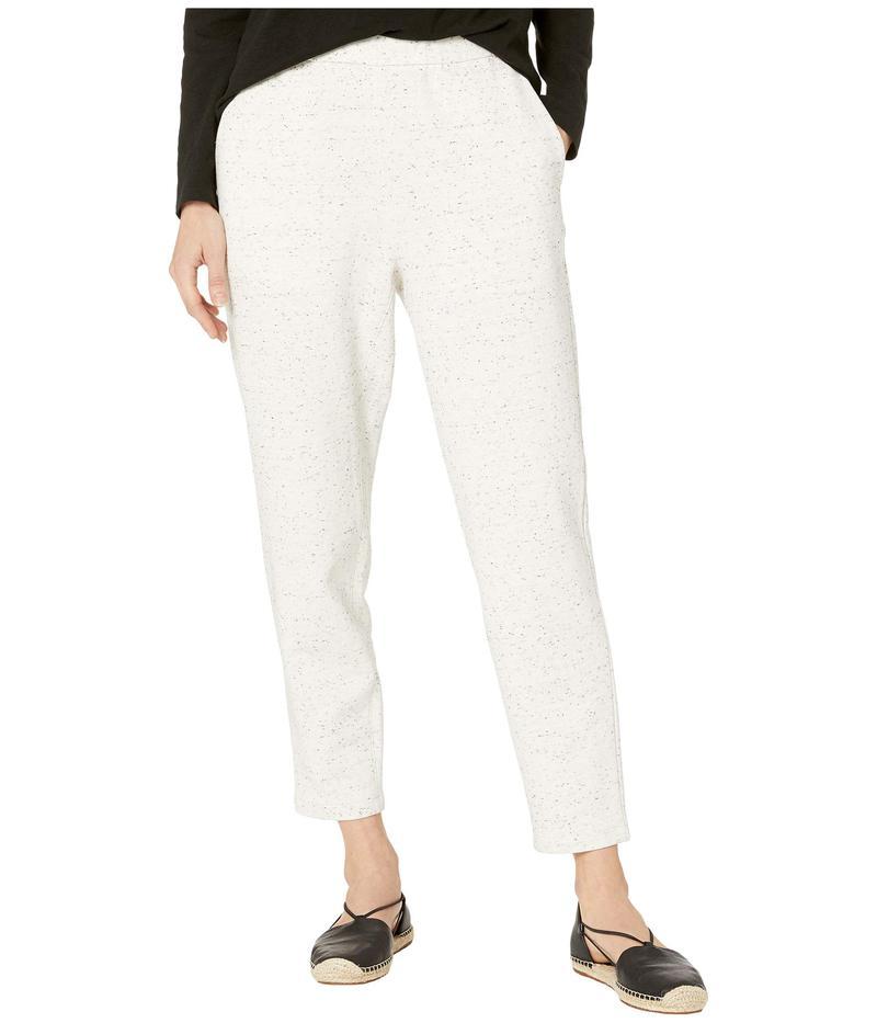 エイリーンフィッシャー レディース カジュアルパンツ ボトムス Speckled Organic Cotton Terry Slouchy Ankle Pants Pearl