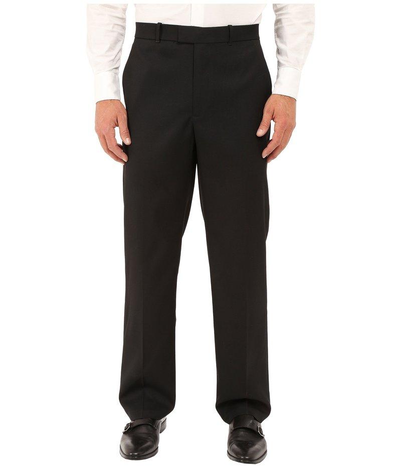 ペリーエリス メンズ カジュアルパンツ ボトムス Classic Fit Flat Front Sharkskin Pant Black Ice