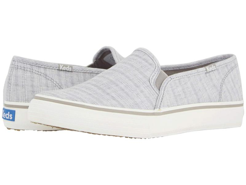 ケッズ レディース スニーカー シューズ Double Decker Chambray Stripe Linen Light Gray