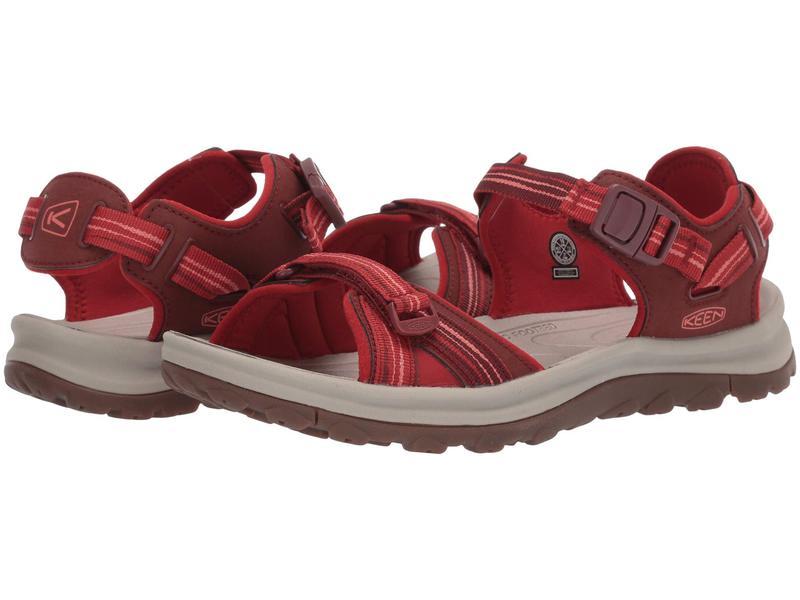 キーン レディース サンダル シューズ Terradora II Open Toe Sandal Dark Red/Coral