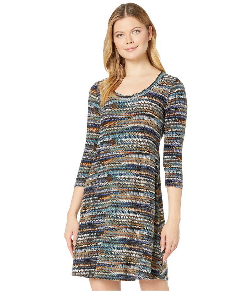 カレンケーン レディース ワンピース トップス 3/4 Sleeve A-Line Dress Print