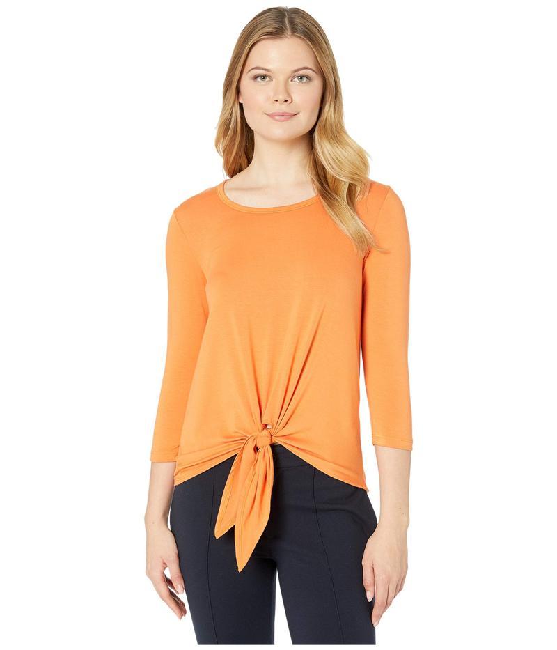 カレンケーン レディース シャツ トップス 3/4 Sleeve Tie-Front Top Orange