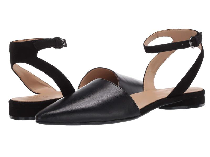 ナチュライザー レディース サンダル シューズ Hartley Black Leather/S