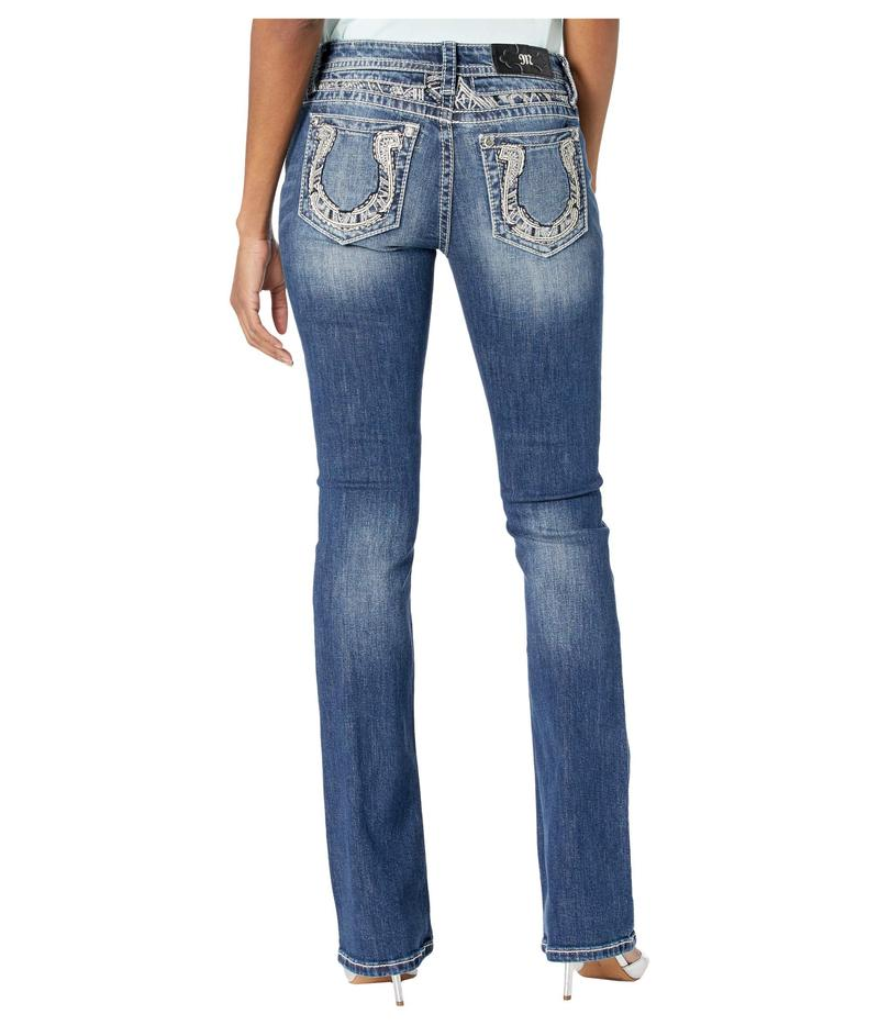 ミスミー レディース デニムパンツ ボトムス Horseshoe Bootcut Jeans in Medium Blue Medium Blue