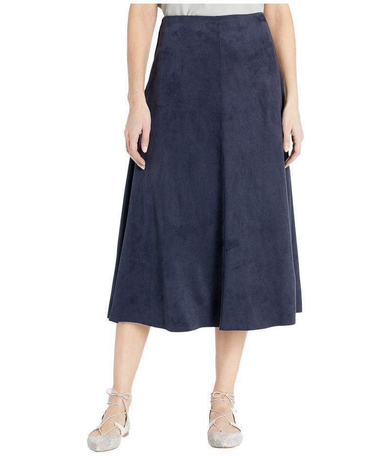リジー レディース スカート ボトムス Dock Skirt in Summer Vegan Suede Navy