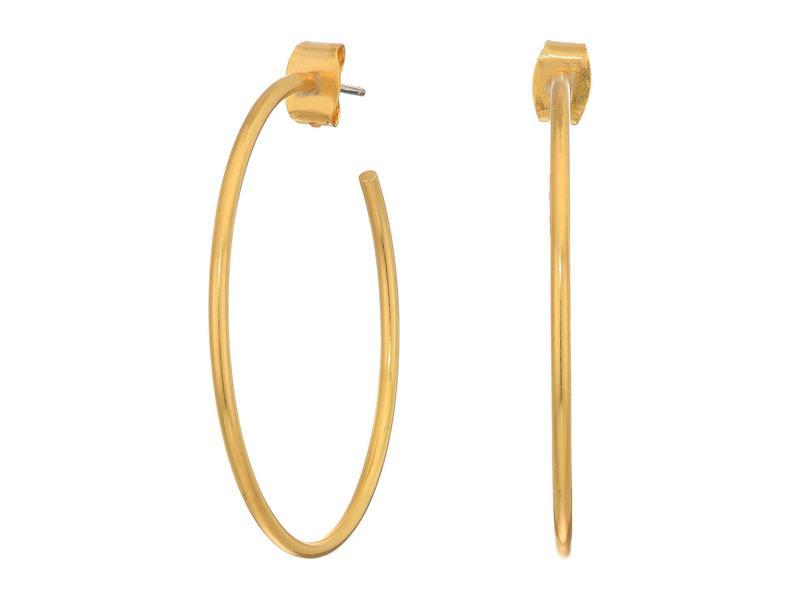 メイドウェル レディース ピアス・イヤリング アクセサリー Medium Hoop Earrings Vintage Gold 1