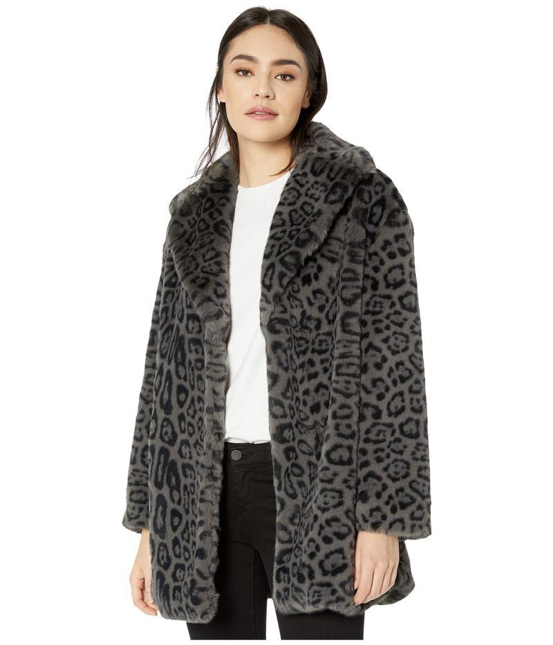 オールセインツ レディース コート アウター Amice Leopard Jacket Grey/Black