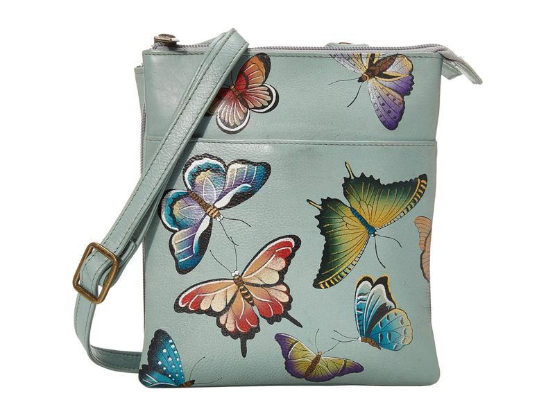 アヌスカ レディース ハンドバッグ バッグ RFID Blocking Triple Compartment Travel Organizer 596 Butterfly Heave