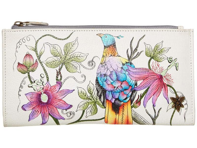 アヌスカ レディース ハンドバッグ バッグ 1121 Two Fold Wallet Himalayan Bird