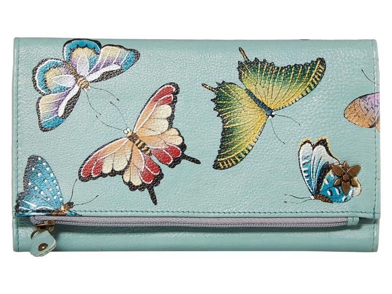 アヌスカ レディース 財布 アクセサリー 1136 Three Fold Clutch Butterfly Heave