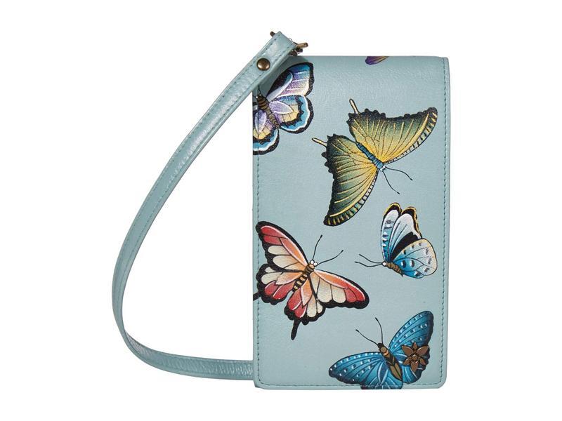 アヌスカ レディース ハンドバッグ バッグ Smartphone Crossbody - 1154 Butterfly Heave