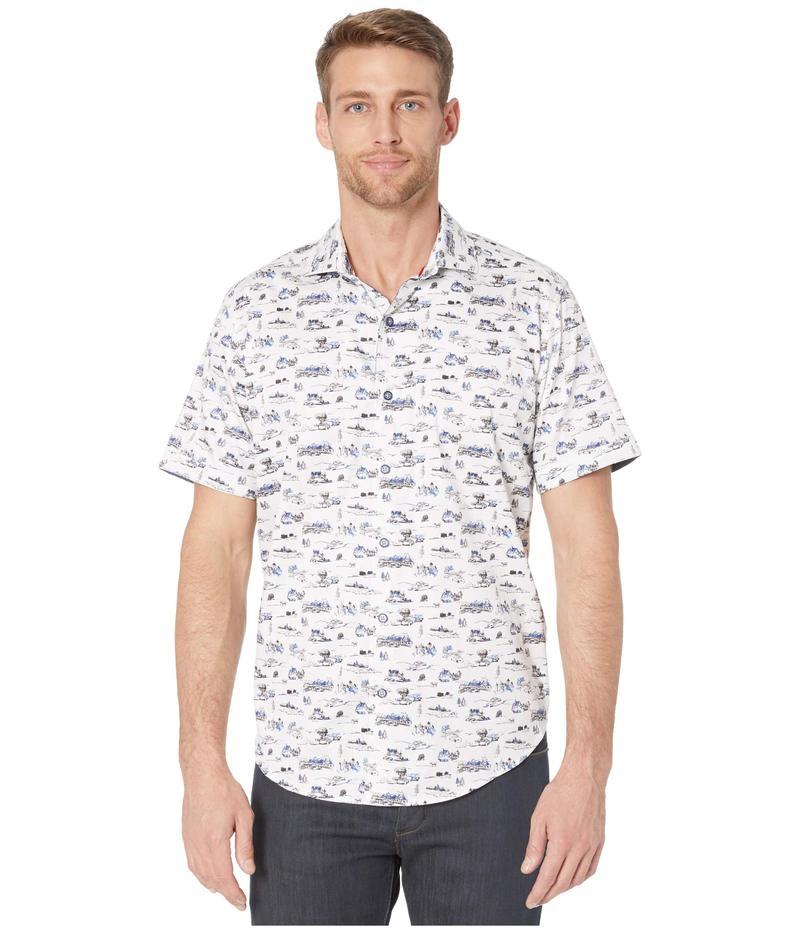 ロバートグラハム メンズ シャツ トップス Throttle Button-Up Shirt Blue