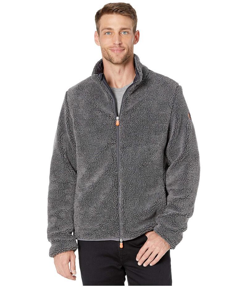 セイブ ザ ダック メンズ コート アウター Bear 9 Faux Sherpa Jacket Charcoal Grey