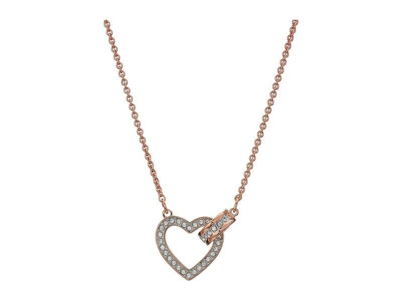 スワロフスキー レディース ネックレス・チョーカー・ペンダントトップ アクセサリー Lovely Necklace Rose Gold Plati